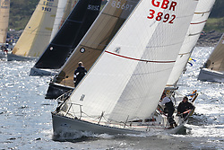 The Silvers Marine Scottish Series 2014, organised by the  Clyde Cruising Club,  celebrates it's 40th anniversary.<br /> Day 2 GBR3892, Significant, Ian MacDonald , CCC / RGYC , Sigma 36<br /> Racing on Loch Fyne from 23rd-26th May 2014<br /> <br /> Credit : Marc Turner / PFM