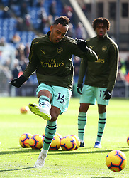 October 28, 2018 - London, England, United Kingdom - London, England - October 28, 2018.Pierre-Emerick Aubameyang of Arsenal during the pre-match warm-up .during Premier League between Crystal Palace and Arsenal at Selhurst Park stadium , London, England on 28 Oct 2018. (Credit Image: © Action Foto Sport/NurPhoto via ZUMA Press)
