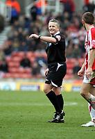 Photo: Mark Stephenson/Sportsbeat Images.<br /> Stoke City v Watford. Coca Cola Championship. 09/12/2007.Referee Mrv C Webster