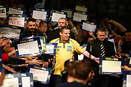 Dave Chisnall walk-on during the World Darts Championships 2018 at Alexandra Palace, London, United Kingdom on 29 December 2018.