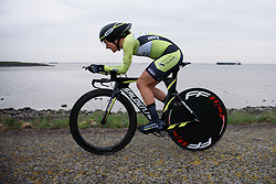 Hanna Solovey (Parkhotel Valkenburg) at Omloop van Borsele Time Trial 2016. A 19.9 km individual time trial starting and finishing in 's-Heerenhoek, Netherlands on 22nd April 2016.
