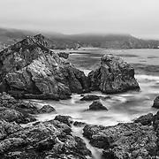 Rocky Point South Cove - Big Sur, CA - Black & White