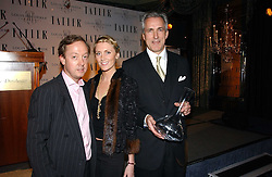 Left to right, GEORDIE GREIG, LADY EMILY COMPTON and JEREMY KING at the Tatler Restaurant Awards held at The Dorchester, Park Lane, London on 22nd January 2007.<br />