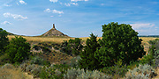 Panoramic view of Chimney Rock National Historic Site, a natural landmark for western travellers.