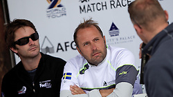 Adam Minoprio (left), and  Bjorn Hansen. St Moritz Match Race 2010. World Match Racing Tour. St Moritz, Switzerland. 4th September 2010. Photo: Ian Roman/WMRT.