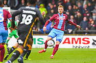 Byron Webster of Scunthorpe United (5) in action during the EFL Sky Bet League 1 match between Scunthorpe United and Bradford City at Glanford Park, Scunthorpe, England on 27 April 2019.