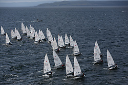Day 4 NeilPryde Laser National Championships 2014 held at Largs Sailing Club, Scotland from the 10th-17th August.<br /> <br /> Laser 4.7 Fleet Start<br /> <br /> Image Credit Marc Turner