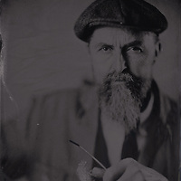 Tintype wetplate collodion plate made at Vine Street, Brighton. Michael Olden