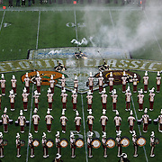 The BCC Wildcat band performs during halftime of the Florida Classic NCAA football game between the FAMU Rattlers and the Bethune Cookman Wildcats at the Florida Citrus bowl on Saturday, November 22, 2014 in Orlando, Florida. (AP Photo/Alex Menendez)