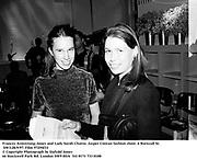 Frances Armstrong-Jones and Lady Sarah Chatto. Jasper Conran fashion show. 6 Burnsall St. SW3.28/9/97. Film 97294f33<br />© Copyright Photograph by Dafydd Jones<br />66 Stockwell Park Rd. London SW9 0DA<br />Tel 0171 733 0108
