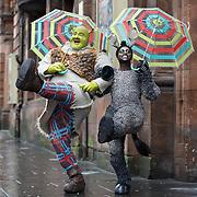 Shrek played by Dean Chisnall and his sidekick Donkey, played by Idriss Kargbo.