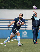 Prop DAVIT KHINSCHAGISHVILI , of French rugby union team, Racing 92 from Paris, during training in Hong Kong. They are preparing ahead of their upcoming match against New Zealand's Super League team, The Highlanders
