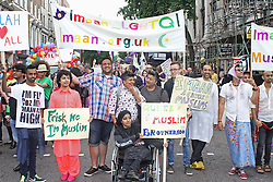 © Licensed to London News Pictures. 28/06/2014. London, UK Gay Muslim support group, Pride in London 2014, London UK, 28 June 2014. Photo credit : Brett D Cove/piQtured/LNP