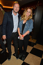 MATTHEW FREUD and his daughter CHARLOTTE FREUD at the London launch of Casamigos Tequila hosted by Rande Gerber, George Clooney & Michael Meldman and to celebrate Cindy Crawford's new book 'Becoming' held at The Beaumont Hotel, Brown Hart Gardens, 8 Balderton Street, London on 1st October 2015.