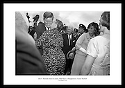 President John F. Kennedy meets his cousin Mary Ryan at Dunganstown, County Wexford.<br /> <br /> 27th June 1963