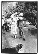 Sir Peregrine and Lady Worsthorne ( formally known as Lady Lucinda Lambton) at their wedding© Copyright Photograph by Dafydd Jones 66 Stockwell Park Rd. London SW9 0DA Tel 020 7733 0108 www.dafjones.com