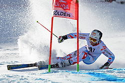 27.10.2013, Rettenbach Ferner, Soelden, AUT, FIS Weltcup, Ski Alpin, Riesenslalom, Herren, 1. Durchgang, im Bild iAlexis Pinturault from France // Alexis Pinturault from France in action during 1st run of mens Giant Slalom of the FIS Ski Alpine Worldcup opening at the Rettenbachferner in Soelden, Austria on 2012/10/27. EXPA Pictures © 2013, PhotoCredit: EXPA/ Mitchell Gunn<br /> <br /> *****ATTENTION - OUT of GBR*****
