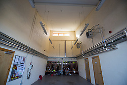 The interior of the station. News feature on the nearly all-female firefighting crew based at the Fire Shed, Lochaline, on the Morvern Peninsula.