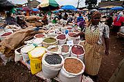 Kikuyu food market. Photographed at Thomson's Falls Kenya