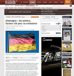 Le Figaro newspaper tearsheet; German flag