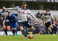 Football - 2016 / 2017 Premier League - Tottenham Hotspur vs. Leicester City<br /> <br /> Vincent Janssen of Tottenham strikes home from the penalty spot to give Tottenham a 1-0 lead at White Hart Lane.<br /> <br /> COLORSPORT/DANIEL BEARHAM