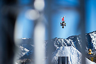 Heath Frisby during Snowmobile Freestyle Practice at the 2016 X Games Aspen in Aspen, CO. ©Brett Wilhelm/ESPN
