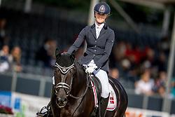 Ahlberg Emma, DEN, Logo's Gaya<br /> World Championship Young Horses Verden 2021<br /> © Hippo Foto - Dirk Caremans<br /> 25/08/2021