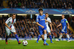 Chelsea Midfielder Oscar (BRA) in action during the second half of the match - Photo mandatory by-line: Rogan Thomson/JMP - Tel: 07966 386802 - 18/09/2013 - SPORT - FOOTBALL - Stamford Bridge, London - Chelsea v FC Basel - UEFA Champions League Group E