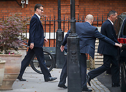 © Licensed to London News Pictures. 24/07/2019. London, UK. JEREMY HUNT is seen leaving his home in Westminster, London with his wife LUCIA (not pictured) the morning after losing the Conservative party leadership election. The Conservative Party has elected Boris Johnson as their new leader and Prime Minister, following Theresa May's announcement that she will step down. Photo credit: Ben Cawthra/LNP