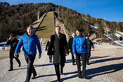 Jelko Gros of Zavod za sport RS Planica, Miro Cerar, prime minister of Slovenia and Maja Makovec Brencic, Minister of Education, Science and Sport at Official opening of the new Nordic centre Planica, on December 11, 2015 in Planica, Slovenia. Photo by Vid Ponikvar / Sportida