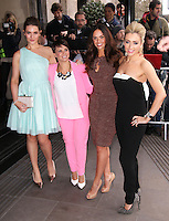 Anna Passey; Jessica Fox; Jennifer Metcalfe; Gemma Merna, The Television and Radio Industries Club (TRIC) Awards, Grosvenor House Hotel, London UK, 11 March 2014, Photo by Richard Goldschmidt