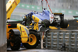 The Sauber C35 of Marcus Ericsson (SWE) Sauber F1 Team, who crashed out of the race.<br /> 13.11.2016. Formula 1 World Championship, Rd 20, Brazilian Grand Prix, Sao Paulo, Brazil, Race Day.<br />  <br /> / 131116 / action press