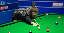 Judd Trump on day five of the Betfred Snooker World Championships at the Crucible Theatre, Sheffield.
