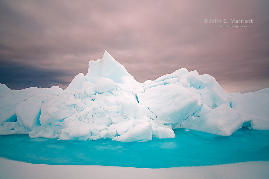 Ice formations at the ice floe edge in Baffin Bay off of Baffin Island in the Canadian Arctic (Nunavut, Canada).