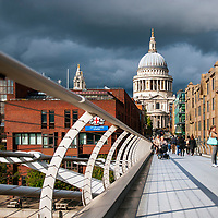 St Paul's Cathedral and Millennium Bridge, London