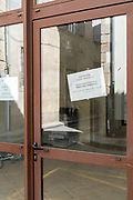 gone out of business office during the Covid 19 crisis and lockdown France Limoux May 2020