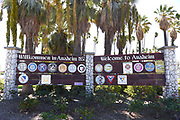 Welcome to Anaheim Sign at La Palma Park