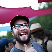 Casey Jarman of Willamette Week at Pickathon on Aug. 6, 2011.
