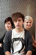 Brussels, Belgium, Mar 26, 2010, Sam De Bruyn van StuBru, Eva Daeleman van MNM en Cathe?rine.Lekime van Radio 2.. PHOTO © Christophe Vander Eecken