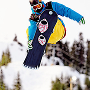 German National Snowboard Team member Ethan Morgan competes in the half pipe during qualifying at the 2009 LG Snowboard FIS World Cup at Cypress Mountain, British Columbia, on February 16th, 2009. Morgan finished 36th in the field of 70.