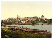 Stunning Old photochrome prints turn back the clock in London <br /> <br /> colourised postcards from the Victorian era,  postcards were made using photochrom - a method of producing colourised photos from negatives<br /> <br /> Photo shows: Windsor Castle, England, between 1890 and 1900<br /> ©Library of Congress/Exclusivepix Media