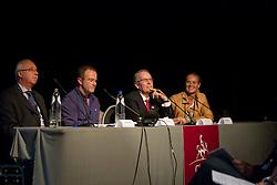 Panel discussion with Bernard Maurel, Paul McGreevy, David Hunt and Hayley Beresford<br /> Global Dressage Forum<br /> Academy Bartels - Hooge Mierden 2011<br /> © Dirk Caremans