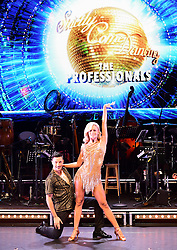 Nadiya Bychkova (right) and Giovanni Pernice (left) attending the Strictly Come Dancing Professionals UK Tour at Elstree Studios, London.