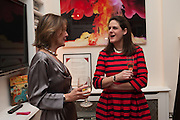 LADY MONSON; HELEN BEDFORD, Drinks party given by Basia and Richard Briggs,  Chelsea. London. SW3. 13 February 2014.