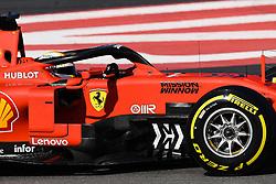 February 18, 2019 - Barcelona, Spain - The German driver, Sebastian Vettel, of Scuderia Ferrari Mission Winnow testing, the new car for F1 2019 Championship during the first day of Formula One Test at Catalonia Circuit, on February 18, 2019 in Barcelona, Spain. (Credit Image: © Joan Cros/NurPhoto via ZUMA Press)