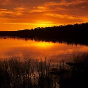Sunset at Tobin Harbor in Isle Royale National Park, MI.