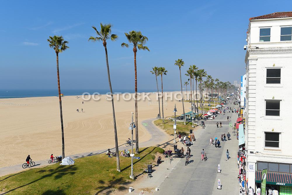 Tourists at Ocean Front Walk Venice Beach