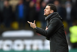 Watford manager Javi Gracia gestures on the touchline