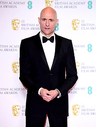 Mark Strong in the press room at the 73rd British Academy Film Awards held at the Royal Albert Hall, London.