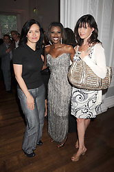 Left to right, CAROLINE FLINT MP, JUNE SARPONG and RONNIE ANCONA at the launch of Politics and The City - a new web site for women fusing politics with gossip, entertainment, news and fashion, held at the ICA, 12 Carlton House Terrace, London on 8th July 2008.<br /><br />NON EXCLUSIVE - WORLD RIGHTS